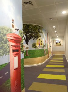 Bespoke story wall with children at the heart
