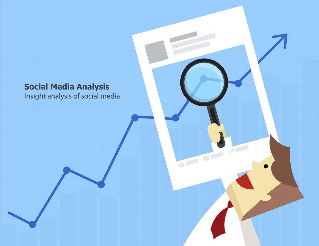Social media analytics showing improved results